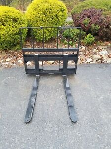 New 4200 Pallet Fork Attachment For Skid Steer fits Bocbat More 48 adjustable