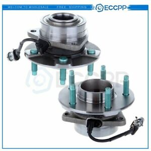 2 Front Wheel Hub Bearing Assembly For Chevy Equinox Torrent Vue Pontiac W Abs