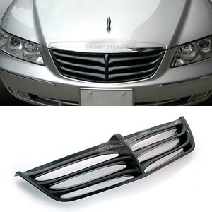 Real Carbon Front Radiator Hood Tuning Grille For Hyundai 2006 2011 Azera Tg