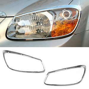 Chrome Head Lamp Cover Garnish Molding A759 For Kia 2006 2007 2008 Cerato