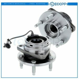 2 New Complete Front Wheel Hub Bearing For 05 2010 Pontiac G6 Abs W 5 Studs