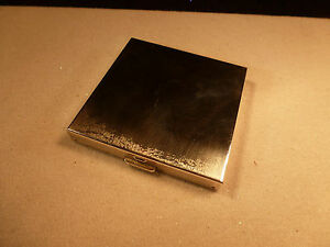 Vintage Heavy Volupte Sterling Silver Mirrored Make Up Compact Usa No Monogram