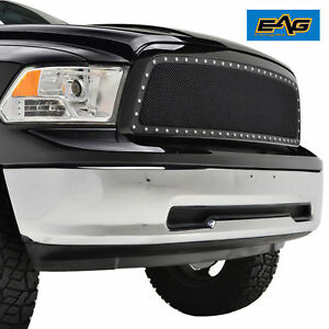 09 12 Dodge Ram1500 Grille Rivet Black Stainless Steel Wire Mesh Package W Shell