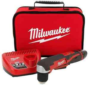 New Milwaukee 3 8 In Variable Speed Cordless Right angle Drill Kit