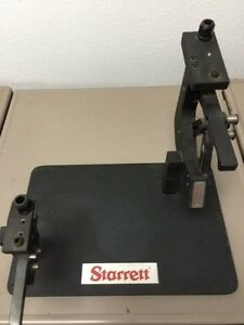 Starrett Test Plate Calibration Stand With 1130 Thread Gage
