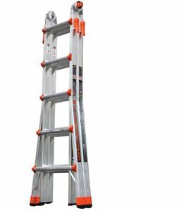 Little Giant Ladder 22 ft Aluminum 300 lb Telescoping Type Ia Folding Scaffold