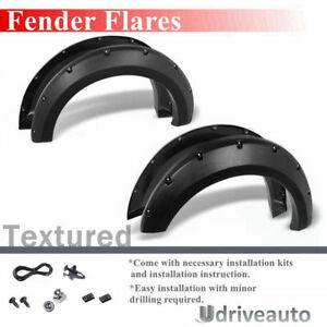 4pcs Textured Fender Flares 2 Pocket Style Wheel Cover For 2004 2008 Ford F150