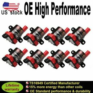 8 Pack Ignition Coil For Chevy Silverado 1500 2500 Gmc 5 3l 6 0l 4 8l Uf262 D585