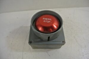 Eaton Cutler Hammer Red Jumbo Mushroom Emergency Stop W No 10250t e34 Box