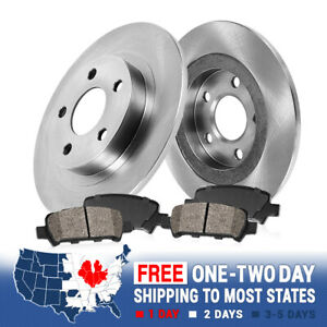 Rear Brake Rotors And Ceramic Pads 2005 2006 2007 2008 2009 2010 Honda Odyssey