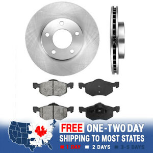 Front Brake Rotors And Metallic Pads For Ford Escape Mercury Tribute Mariner