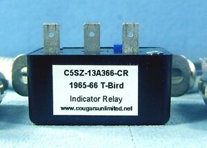 T21 6 1965 1966 Thunderbird Turn Signal Indicator Relay C5sz 13a366 Cr