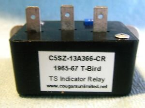T21 7 1967 Thunderbird Turn Signal Indicator Relay C5sz 13a366 Cr 7