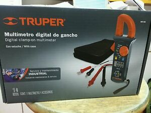 Mut 202 Digital Clamp on Multimeter Truper With Case