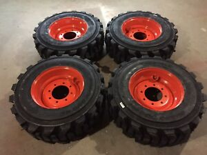 4 New 12 16 5 Carlisle Guard Dog Tires Wheels rims For Bobcat 12x16 5 heavy Duty