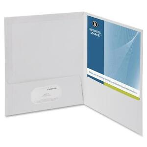 Business Source 44424 Two pocket Folders With Business Card Holder Letter 8