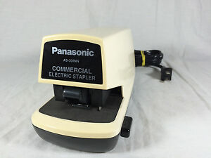 Vintage Panasonic Commerical Electric Stapler As 300nn Made In Japan Mid Century