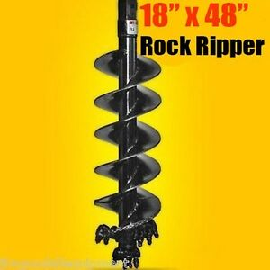 18 X 48 Rock Ripper Auger Bit 2 Hex Drive Extreme Duty Rock