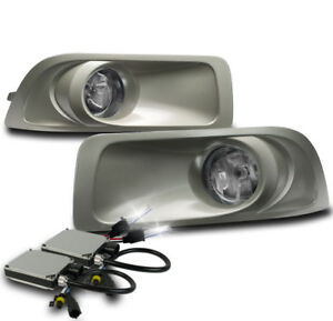 Chrome Bumper Driving Fog Lights Lamp W 6k Xenon Hid For 2010 2011 2012 Outback