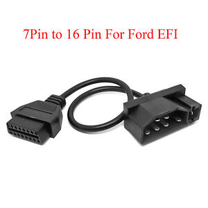 7 Pin Male Obd1 To Obd2 Obdii 16 Pin Diagnostic Adapter Cable For Ford Efi
