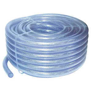 6mm Id Clear Pvc Braided Hose 1 Metre Garden Pipe Air Water Washer Tube Pond