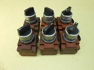 Ge 3 Position Selector Switch Lot Of 6