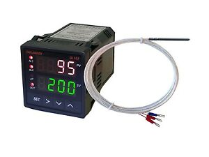 Dual Display Digital Pid F c Temperature Controller With Pt100 Probe