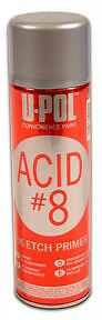 U Pol Products Up0838 Acid 8 Acid Etch Primer 450ml Olive Green Limited Supply