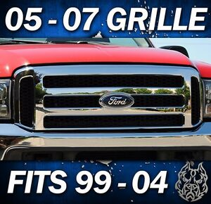 2000 F250 F350 Chrome Ford Superduty Grille Super Duty Grill