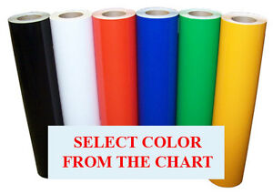 5rolls Pack 24 x10ft Intermediate Sign Vinyl 5yr Outdoor 47colors Cutter decals