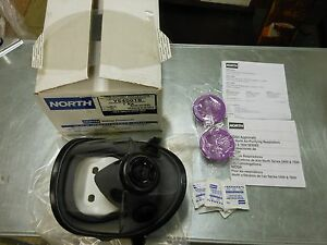 North Honeywell 54001 5400 Full Face Respirator Kit Size Small W Filters New