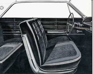 1963 Chevy Impala Front Split Bench Seat Cover