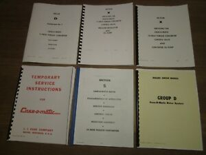 Case 400b 600b 530 630 730 800 830 Tractor Case o matic Service Manual Set