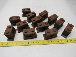 5 8 Pipe Tube Clamp W bolts Weld Mount Lot Of 13