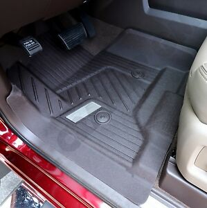 2015 2018 Gmc Sierra Double Cab Gm Oem Front Rear All weather Floor Mats Dune
