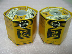 Kester 24 7317 9797 Rosin Core Solder 063 Lot Of 2 1 Lb Spools