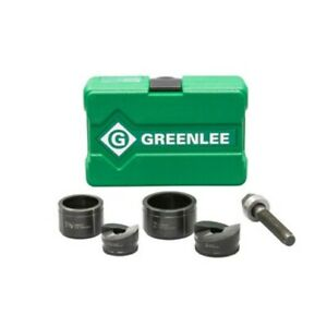 Greenlee 7237bb 1 1 2 2 Conduit Size Manual Slug buster Knockout Punch Kit
