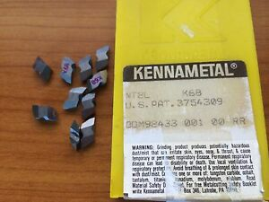 Kennametal Nt 2l K68 Lathe Carbide Indexable Inserts 10 Pcs Grooving Tool New
