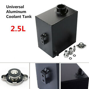 Universal Aluminum Coolant Radiator Overflow Recovery Water Tank Bottle 2 5l New