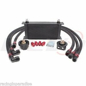 Rev9 Universal19 Row Oil Cooler Bar Plate Core W Oil Filter Relocation Kit