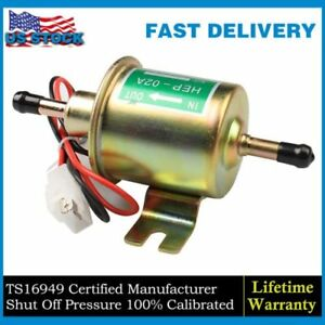 Universal Gas Diesel Inline Low Pressure Electric Fuel Pump 12v 4 7 Psi Us Stock