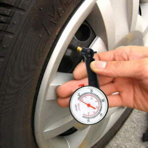 Auto Vehicle Motorcycle Bicycle Dial Tire Gauge Meter Pressure Tyre Measure Us