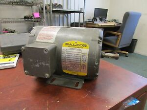 Baldor Industrial Motor M3455 1 4hp 1140rpm 208 230 460v 1 5 1 4 7a New Surplus