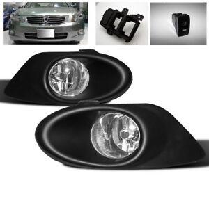 2008 2009 2010 Honda Accord 4dr Ex Lx Front Bumper Clear Fog Light Lamp New Pair