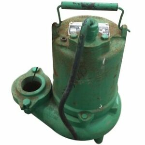 Used 3 4hp Hydromatic Submersible Sump Sewage Pump Model Sk75m4