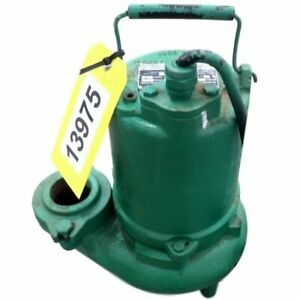 Used 3 4hp Hydromatic Submersible Sump Effluent Sewage Pump Model Sk75m4