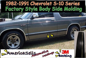 1982 1991 Chevrolet S10 Blazer Pickup Body Side Molding Oem Replacement Trim