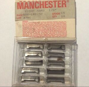 10 Pcs Manchester 508 141 50 C5 1 8 Right Hand Grooving Lathe Carbide Inserts