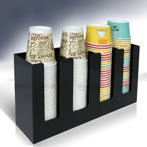 Dixie Paper Cup Holder Dispenser Organizer Rack Stand Coffee Shop Home Party