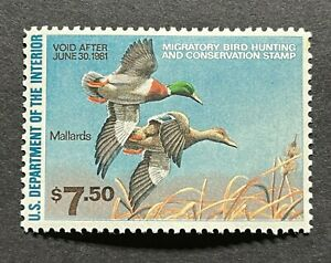 WTDstamps #RW47 1980 US Federal Duck Stamp Mint OG NH